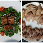 Quail breast salad