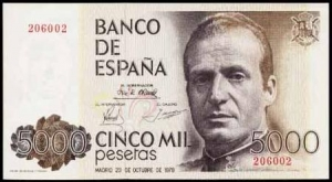 5000 pesetas