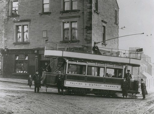1905. Tram at Larbert Cross