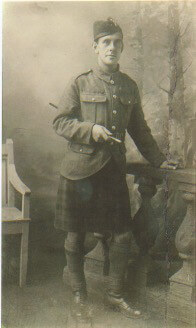 1915. Archibald Morrison (1st cousin 2xremoved) 1915 WWI Black Watch