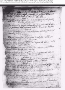 OPR MORISONE, George Birth 22 Nov 1663