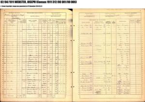 Joseph Webster 1911 Census