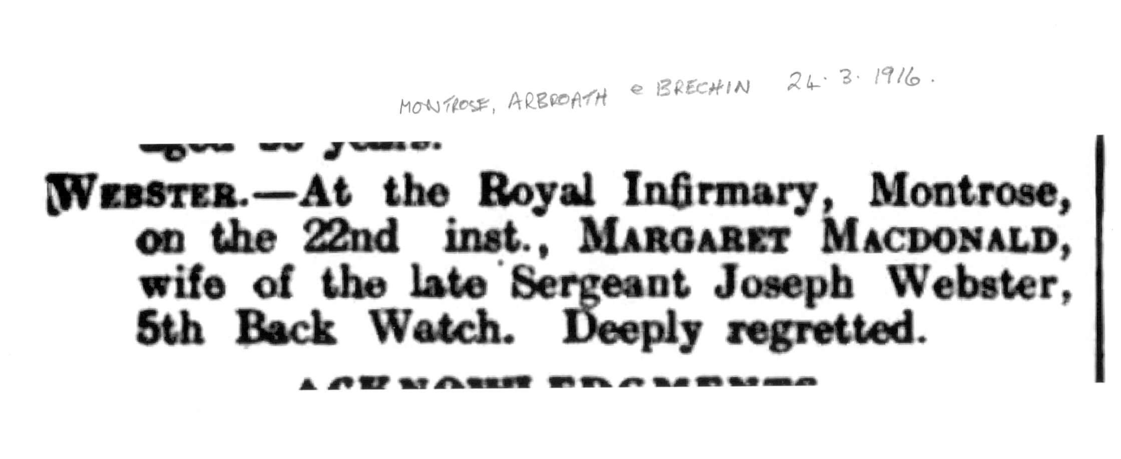 Montrose Review 24 Mar 1916