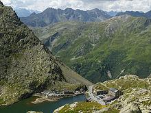 Grand St Bernard Pass in Switzerland