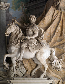 Statue of Charlemagne by Agostino Cornacchini (1725), St. Peter's Basilica, Vatican, Italy