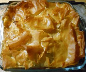 Filo pastry pie
