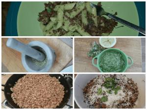 Wild garlic sausage pasta
