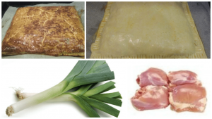 Chicken and Leek Puff Pastry Pie