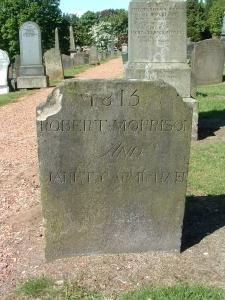1815 Robert Morrison and Janet Carmichael grave marker