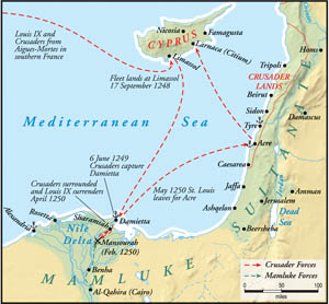 The Battle of Al Mansourah - the Seventh Crusade