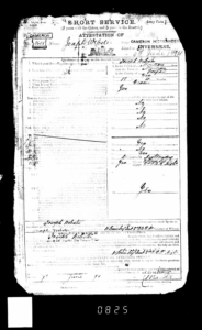 Jospeph Webster Cameron Highlanders (3605) 9 June 1894
