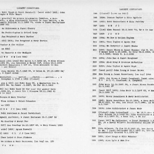 Larbert Churchyard records
