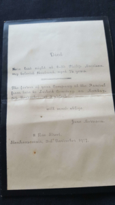 Philip Morrison death notice 1917