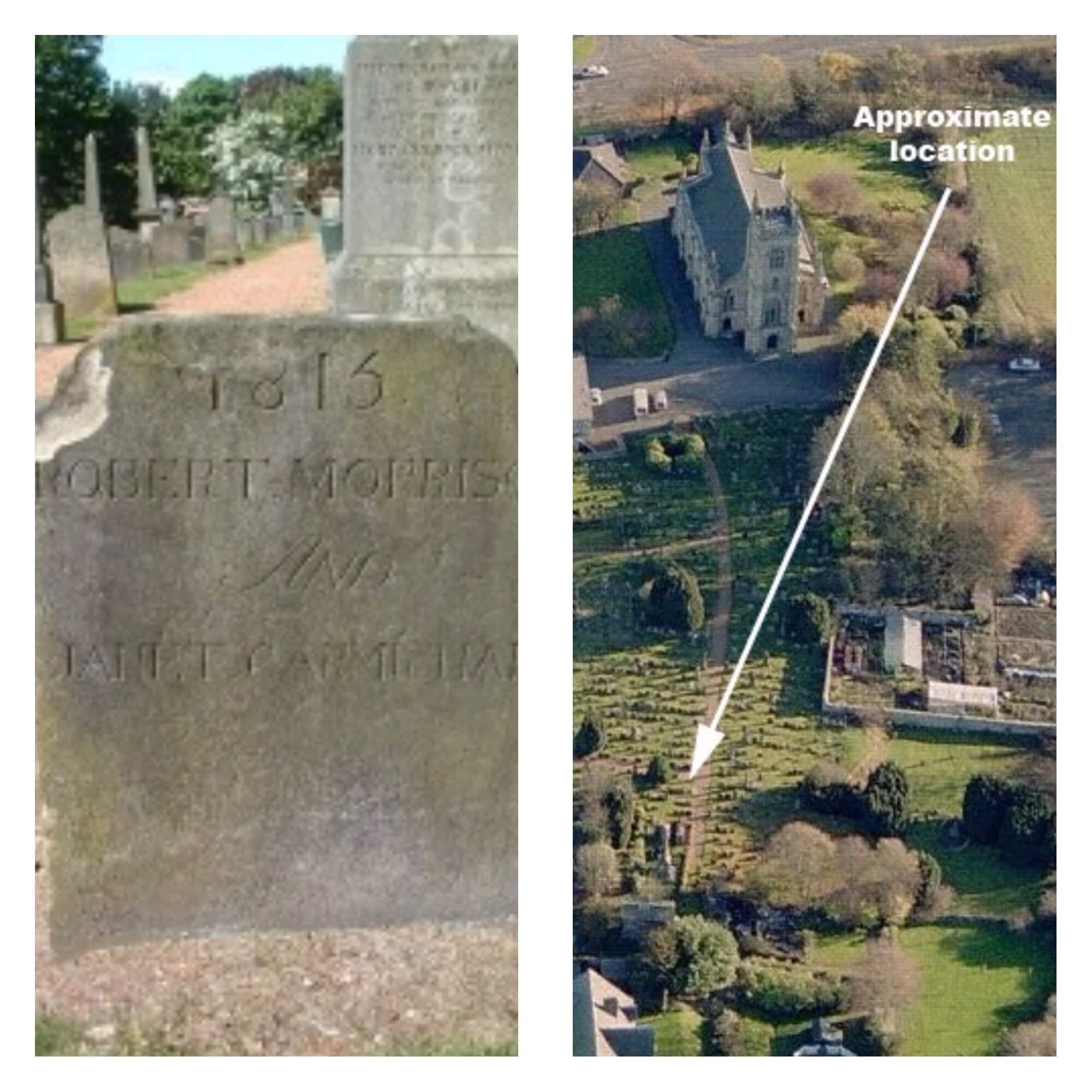 Robert Morison and Janet Carmichael grave stone