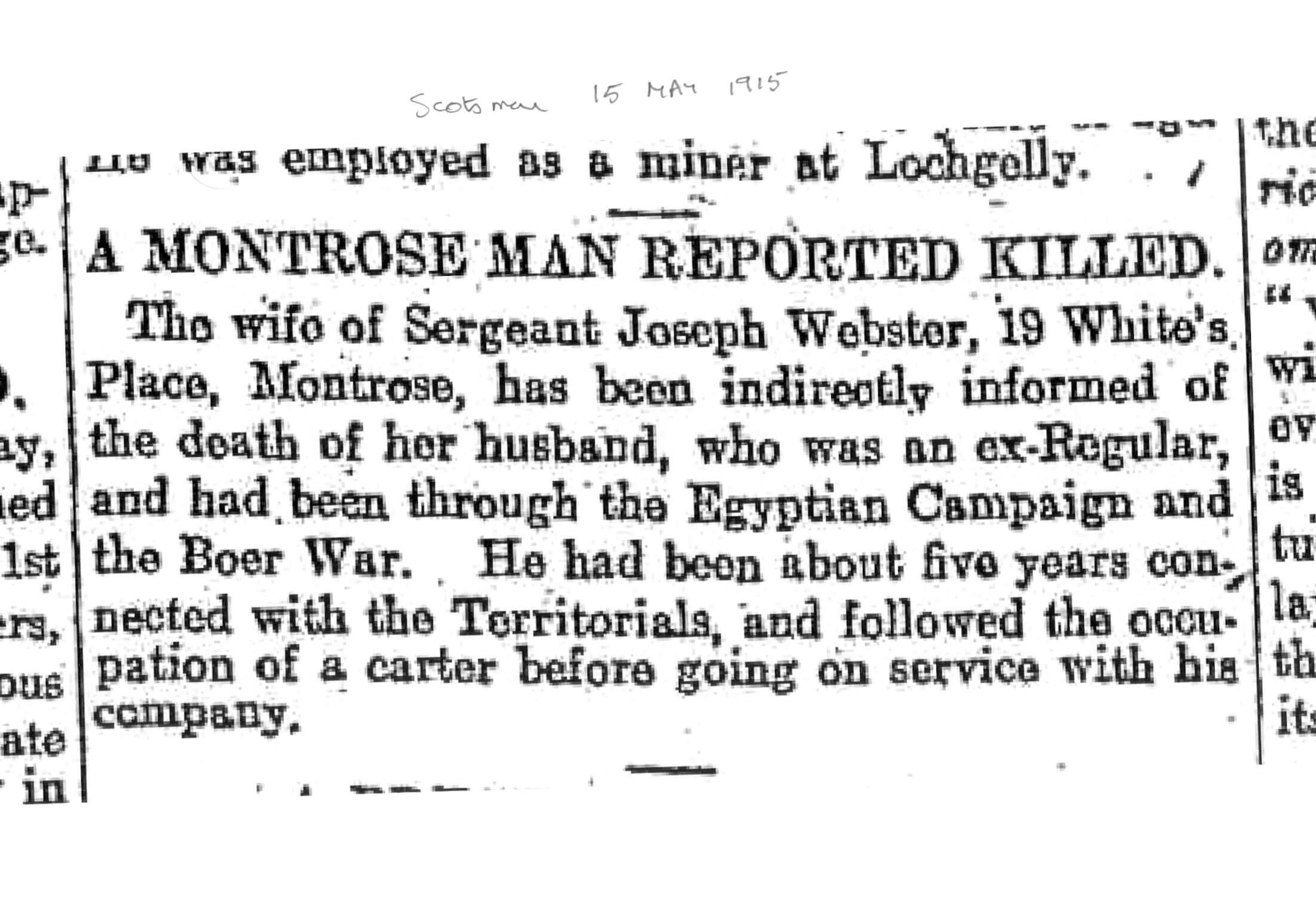 Scotsman 15 May 1915