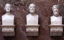 Busts of Henry I (the Fowler), King of the Germans, his Son Emperor Otto the Great, and Emperor Conrad II (the Salian)